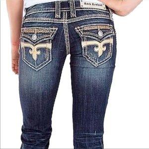 Rock Revival Dara Boot Cut Jeans Size 25
